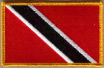 Trinidad & Tobago Embroidered Flag Patch, style 08.